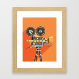 Cine: Orange Framed Art Print