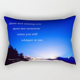 """""""Flickering Sunset"""" with poem: There Are Moments Rectangular Pillow"""