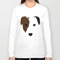 terrier Long Sleeve T-shirts featuring Russell Terrier by Dizzy Moments