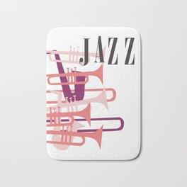 Jazz Big Band Homage Poster Design, For Jazz Musicians and Lovers, Original Design, tshirt, tee, jer Bath Mat