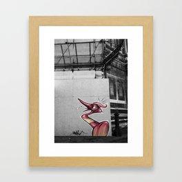 Street art in Florence Framed Art Print