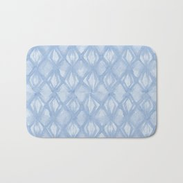 Braided Diamond Sky Blue on Lunar Gray Bath Mat