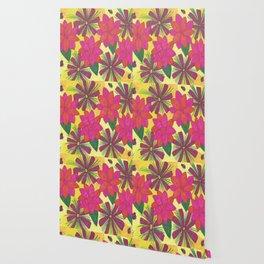 Bohemian Floral Garden Print Wallpaper