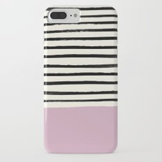 Dusty Rose & Stripes iPhone 7 Plus Slim Case