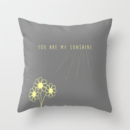 For my daughter: our sunshine. Throw Pillow