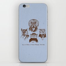 A History of Western Philosophy. With Owls. iPhone & iPod Skin