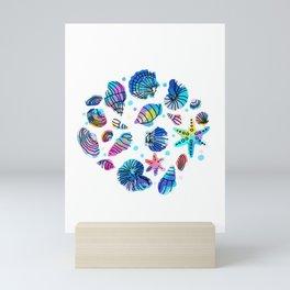 Conch starfish colorful dive water sea gift Mini Art Print