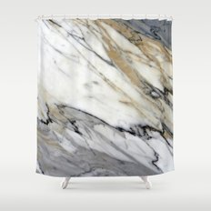 Calacatta Marble Shower Curtain