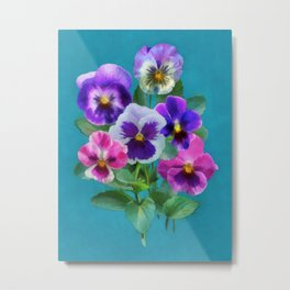 Bouquet of violets I Metal Print