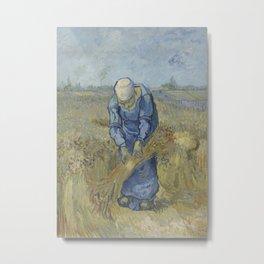 Peasant Woman Binding Sheaves (after Millet) Metal Print
