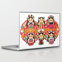 mexican Laptop & iPad Skins featuring Mexican Dolls by Alapapaju