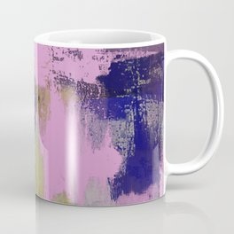 Wild Lilac - Abstract, textured, lilac, purple, blue and yellow oil painted artwork Coffee Mug