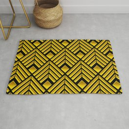 Exotic Art Deco Pattern: The Mademoiselle Is Incognito Rug