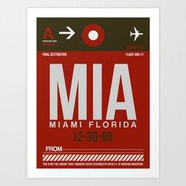 MIA Miami Luggage Tag 2 Art Print