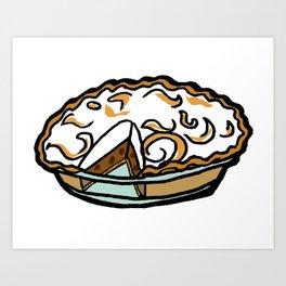 Sour Cream Raisin Pie - Iowa Art Print