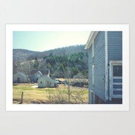 Working Farm in the Catskills, New York Art Print