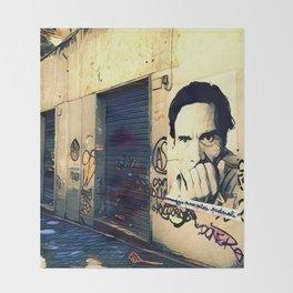 Street Art Pasolini in Rome Throw Blanket