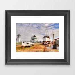 Chesapeake Bay Ship Building Framed Art Print