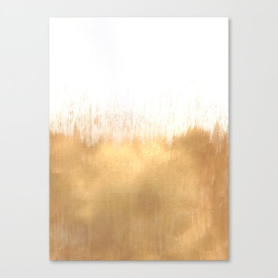 Brushed Gold Wall Decor : Brushed gold canvas print by caitlin workman society