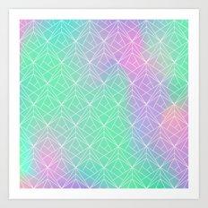 Pattern hologram Art Print