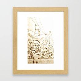 A menina da Favela Framed Art Print