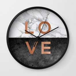 Love Copper Wall Clock