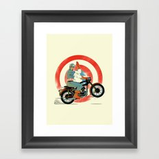Cap Ride. Framed Art Print
