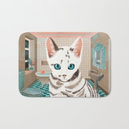 Sialata, the Kitty Cat Bath Mat