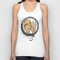 baloon Tank Tops featuring Charlie baloon by Arry Design