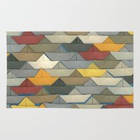 boats Area & Throw Rugs featuring Boats by GLOILLUSTRATION