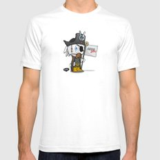 Steal like an artist White SMALL Mens Fitted Tee
