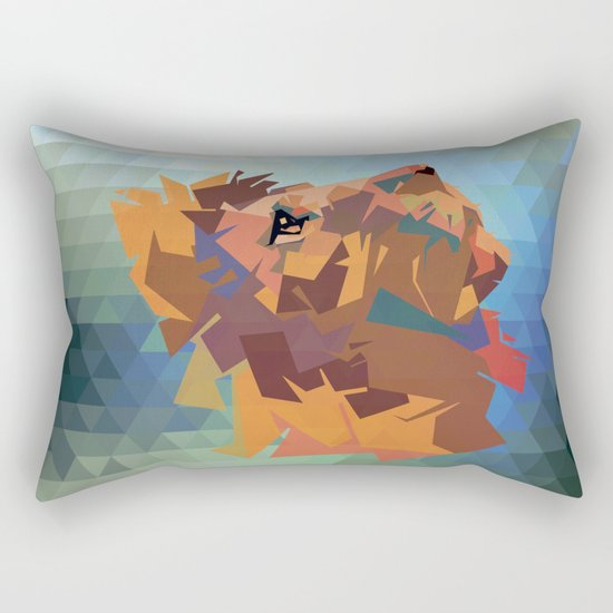 Lion's head - Geometry Rectangular Pillow