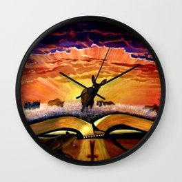 The Hind of the Dawn - Psalm 22 Wall Clock