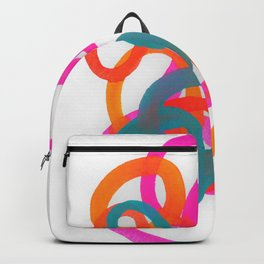 Happy bright swirls Backpack