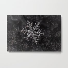 Snowfake on some fleece Metal Print