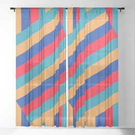 The Turning Point - Abstract Minimalism Art (2) Sheer Curtain