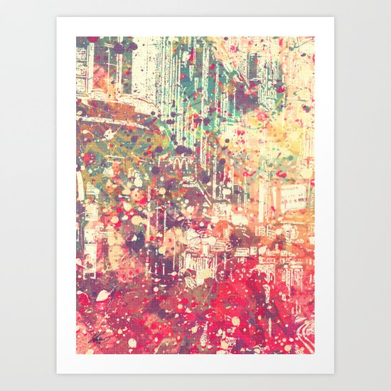 Street of London1 Art Print