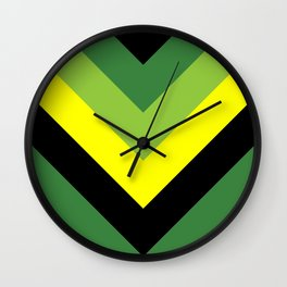 V-lines Green style Wall Clock