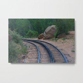 Going UP Pikes Peak Colorado Metal Print