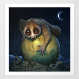 Loris Planet Art Print
