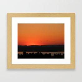 Beneath the Amber Framed Art Print