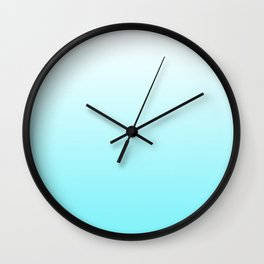 Teal Ombre Wall Clock