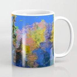 FULL MOON OVER BLUE MOUNTAIN FOREST DESIGN Coffee Mug