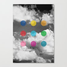 Storm Clouds + Colored Dots Canvas Print