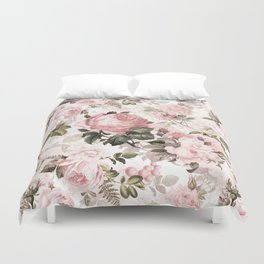 Vintage & Shabby Chic - Sepia Pink Roses Duvet Cover