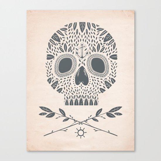 LEAF SKULL Canvas Print