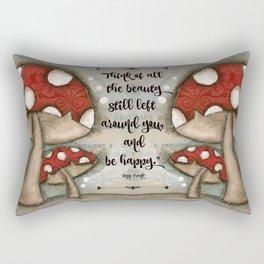 Mushrooms - by Diane Duda Rectangular Pillow