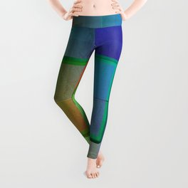 Aperture #2 Fractal Pleat Texture Colorful Design Leggings