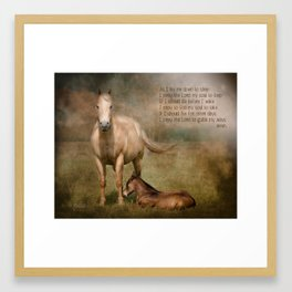 As I lay me down to sleep Framed Art Print