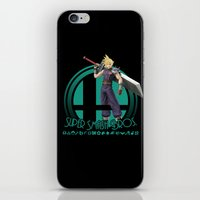 super smash bros iPhone & iPod Skins featuring Cloud - Super Smash Bros. by Donkey Inferno